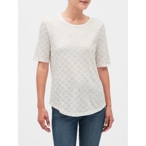 Print Malibu Elbow Sleeve Crew Neck T-Shirt