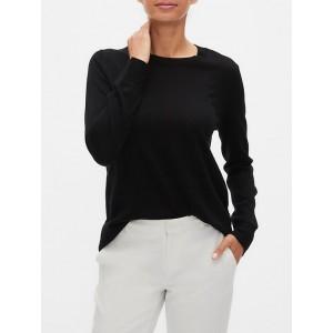 Petite Merino Wool Crew Neck Sweater