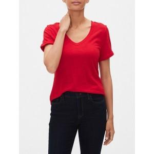 Malibu Roll Sleeve V-Neck T Shirt