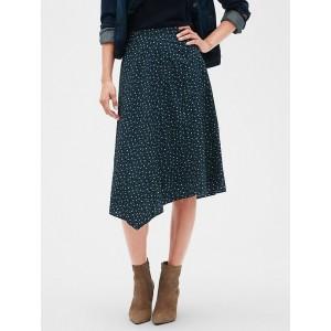 Floral Print Asymmetrical Midi Skirt