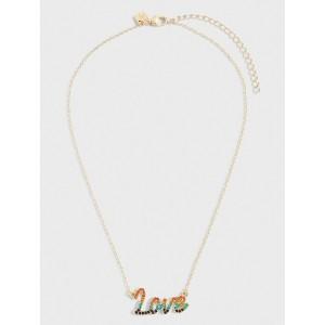 "Rainbow ""Love"" Necklace"