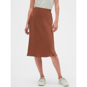 Bias Slip Midi Skirt