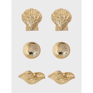 Shell 3 Pack Earrings