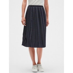 Petite Plaid Pleated Midi Skirt
