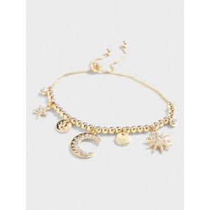Celestial Charm Slider Bracelet
