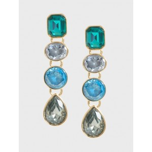 Gem Four Link Drop Earrings