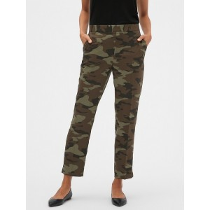 Hayden Pull-On Camo Print Tapered Fit Soft Ankle Pant