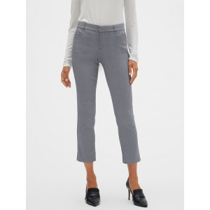 Sloan Twill Check Slim Crop Pant