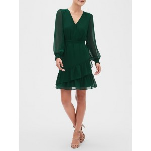 Petite Smocked Fit and Flare Dress