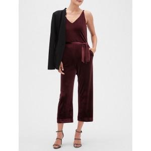 Petite Velvet Jumpsuit