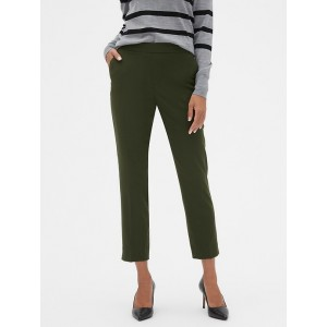 Petite Hayden Pull-On Military Olive Ankle Pant