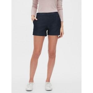 Petite Chambray Sailor Shorts - 4 inch inseam