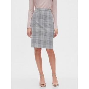 Petite Plaid Pull-On Pencil Skirt