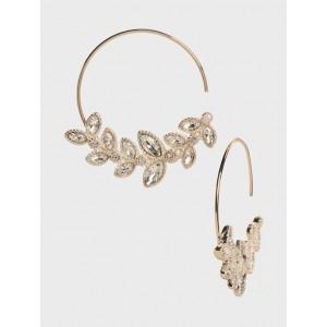 Leaf Garland Hoop Earrings