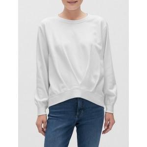 Pleat-Front Sweatshirt