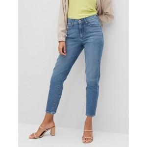 High-Rise Medium Wash Straight Jean