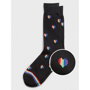 Pride Heart Print Socks