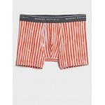 Organic Cotton Watercolor Stripe Boxer Briefs