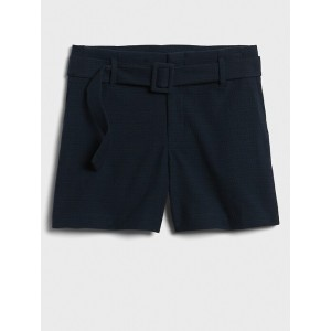 High-Rise Belted Short - 4 inch inseam