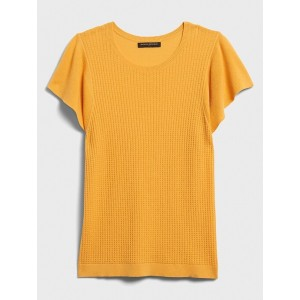 Honeycomb Stitch Crew-Neck Sweater
