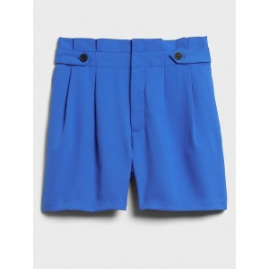 Button-Tab Pull-On Shorts - 5 inch inseam
