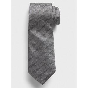 Grey Plaid Tie