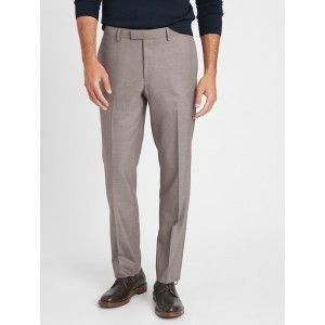 Slim-Fit Wrinkle-Resistant Sharkskin Trouser