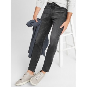 Skinny-Fit Stretch Black Washed Everyday Jean