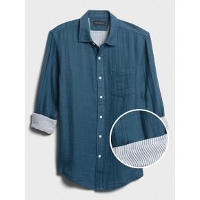 Standard-Fit Doubleweave Shirt