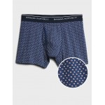 Organic Cotton Tiny Square Print Boxer Briefs