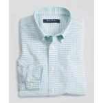 Boys Non-Iron Stretch Cotton Oxford Gingham Sport Shirt
