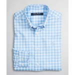 Boys Non-Iron Stretch Supima Cotton Micro-Check Sport Shirt