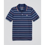 Boys Performance Series Pique Feeder Stripe Polo Shirt