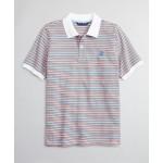 Boys Cotton Pique Mini Multi-Stripe Polo Shirt