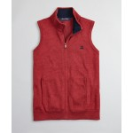 Boys Supima Cotton-Blend Full-Zip Sweater Vest