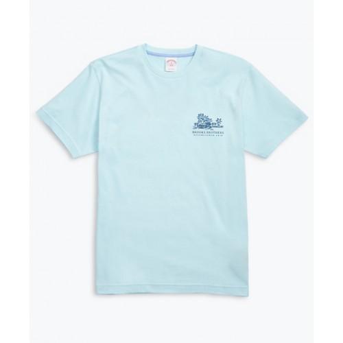 Hawaii-Print Cotton Jersey T-Shirt
