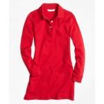 Girls Long-Sleeve Polo Dress