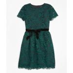 Girls Short-Sleeve Lace Dress