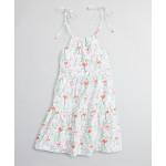 Girls Flamingo Print Cotton Dress