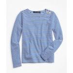Girls Cotton Blend Stripe T-Shirt