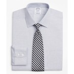 Stretch Regent Fitted Dress Shirt, Non-Iron Twill Ainsley Collar Micro-Check