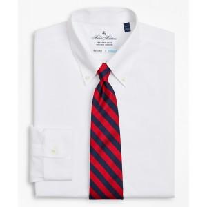 Big & Tall Dress Shirt, Performance Non-Iron with COOLMAX, Button-Down Collar Twill