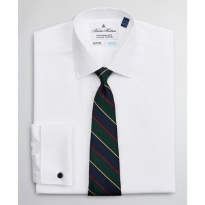 Big & Tall Dress Shirt, Performance Non-Iron with COOLMAX, Ainsley Collar Twill French Cuff