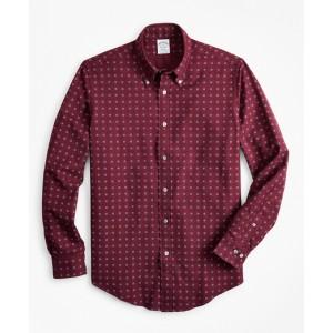 Regent Fit Foulard Print Flannel Sport Shirt