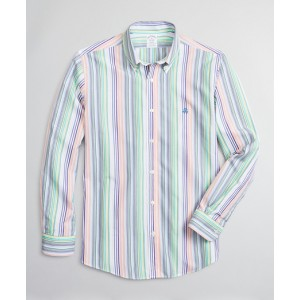 Luxury Collection Regent Fitted Sport Shirt, Button-Down Collar Multi-Stripe