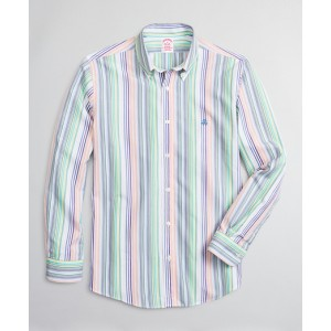 Luxury Collection Madison Classic-Fit Sport Shirt, Button-Down Collar Multi-Stripe