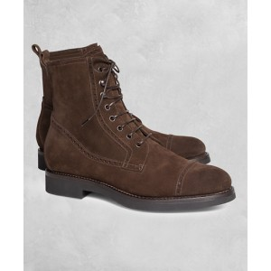 Golden Fleece Suede Boots