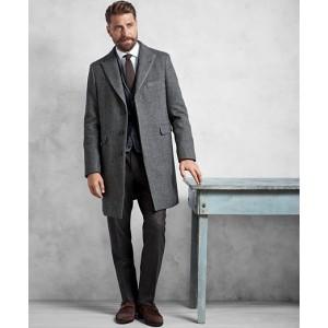 Golden Fleece Grey Herringbone Topcoat