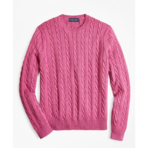 Supima Cotton Cable Crewneck Sweater
