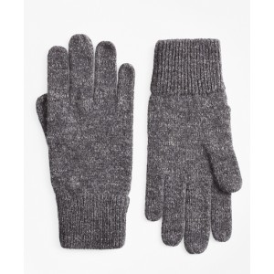 Ribbed Marled Wool Gloves
